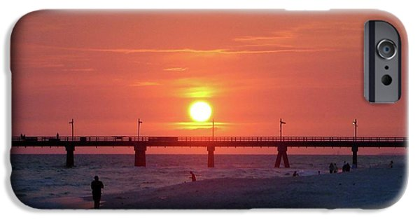 Panama City Beach Photographs iPhone Cases - Watching the Sunset iPhone Case by Sandy Keeton