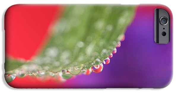 Macro Drawings iPhone Cases - Water Droplets iPhone Case by Sean Presher-Hughes