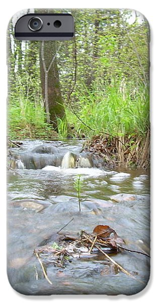 Water flows after a May rain iPhone Case by Kent Lorentzen