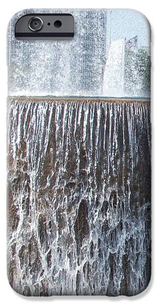 Mist iPhone Cases - Water fountain iPhone Case by Peggy Chambers