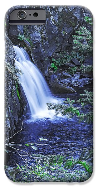 Overhang iPhone Cases - Water From Rock-2 iPhone Case by Nancy Marie Ricketts