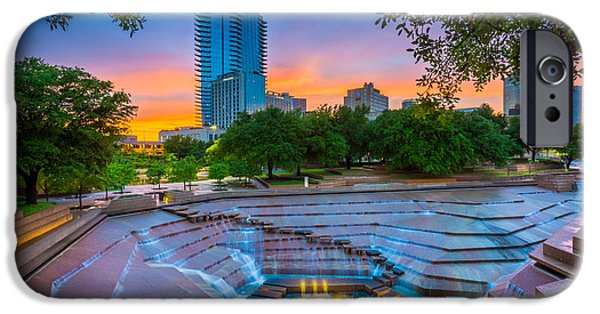Drama iPhone Cases - Water Gardens Sunset iPhone Case by Inge Johnsson
