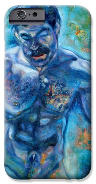 Surrealism Glass iPhone Cases - Water Man iPhone Case by Greg Hester