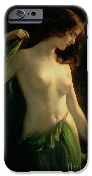 Female Body iPhone Cases - Water Nymph iPhone Case by Otto Theodor Gustav Lingner