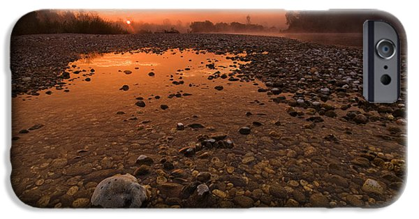Pebbles iPhone Cases - Water on Mars iPhone Case by Davorin Mance
