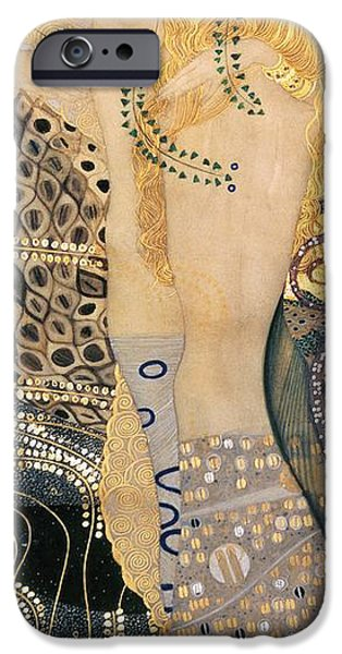 Serpent iPhone Cases - Water Serpents I iPhone Case by Gustav klimt