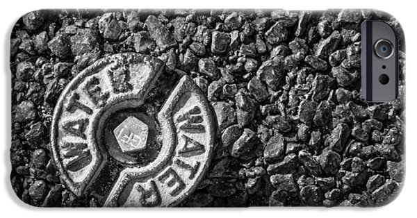 Asphalt iPhone Cases - Water iPhone Case by Shelley Vandegrift