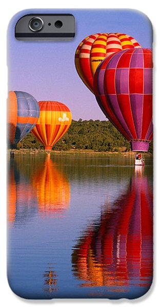 Hot Air Balloon iPhone Cases - Water Skippers iPhone Case by Jerry McElroy