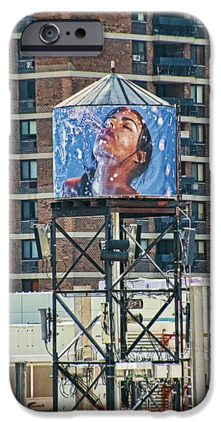 Graphic Design iPhone Cases - Water Tank Mural iPhone Case by Allen Beatty