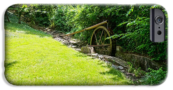 Creek iPhone Cases - Water Wheel At Enchanted HIlls iPhone Case by Jennifer White