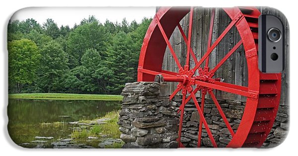 Mill iPhone Cases - Water Wheel Vermont iPhone Case by Edward Fielding