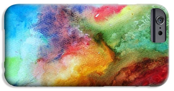 Free Form Paintings iPhone Cases - Watercolor Collage iPhone Case by Jamie Frier