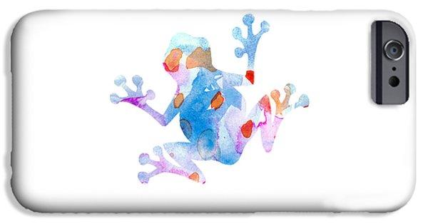 Nursery Art iPhone Cases - Watercolor Frog iPhone Case by Nursery Art