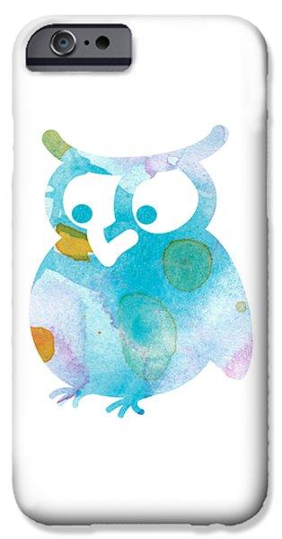 Nursery Art iPhone Cases - Watercolor Owl iPhone Case by Nursery Art