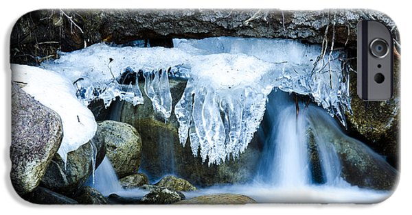 Springtime In The Park iPhone Cases - Waterfall 7 iPhone Case by RC  Photographix
