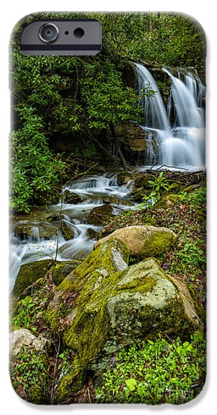 West Fork iPhone Cases - Waterfall along Back Fork of Elk River iPhone Case by Thomas R Fletcher