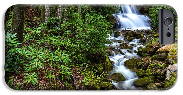 West Fork iPhone Cases - Waterfall Back Fork of Elk River iPhone Case by Thomas R Fletcher