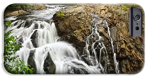 Rapids iPhone Cases - Waterfall in wilderness iPhone Case by Elena Elisseeva
