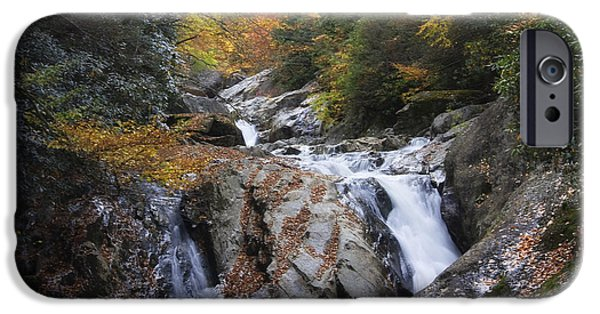 West Fork iPhone Cases - Waterfall off Blue Ridge Parkway iPhone Case by Jill Lang