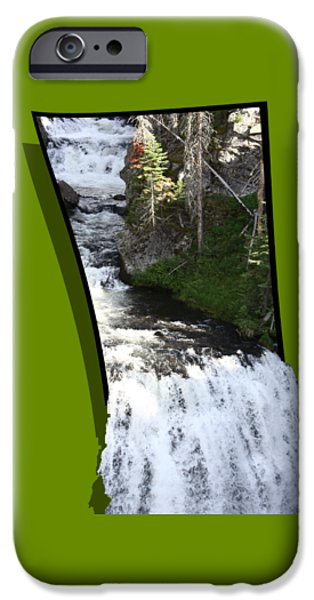 Creek Mixed Media iPhone Cases - Waterfall iPhone Case by Shane Bechler