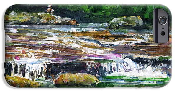 Sod iPhone Cases - Waterfalls 1 Dolly Sods WV iPhone Case by John D Benson