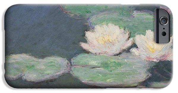 Close Up Floral iPhone Cases - Waterlilies iPhone Case by Claude Monet