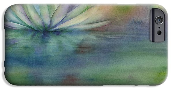 Moody Paintings iPhone Cases - Waterlily iPhone Case by Amy Kirkpatrick