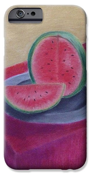 Watermelon Pastels iPhone Cases - Watermelon iPhone Case by Saloni Vaidya