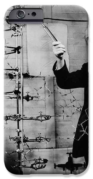 Watson and Crick iPhone Case by A Barrington Brown and Photo Researchers