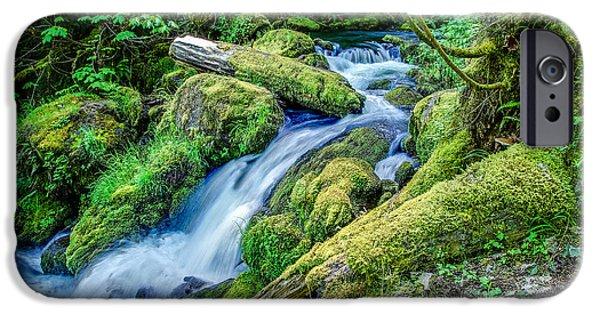 Watson Lake Photographs iPhone Cases - Watson Creek Falls Oregon iPhone Case by Scott McGuire