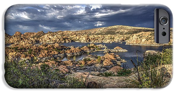 Watson Lake iPhone Cases - Watson Lake Afternoon iPhone Case by Frank Cuva