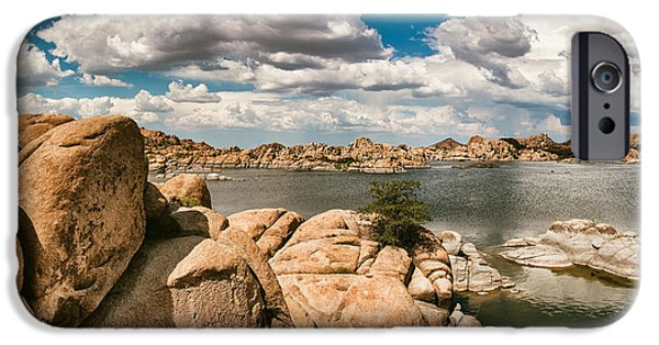 Prescott iPhone Cases - Watson Lake Panorama iPhone Case by Jason Dodson