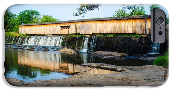 Covered Bridge iPhone Cases - Watson Mill Bridge State Park iPhone Case by Donna Brown