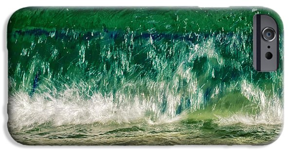 Abstract Seascape Photographs iPhone Cases - Wave iPhone Case by Stylianos Kleanthous