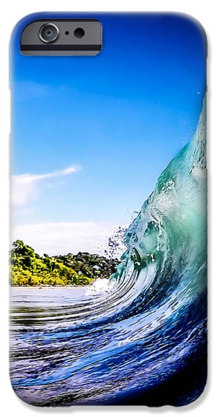 Waves Digital Art iPhone Cases - Wave Wall iPhone Case by Nicklas Gustafsson