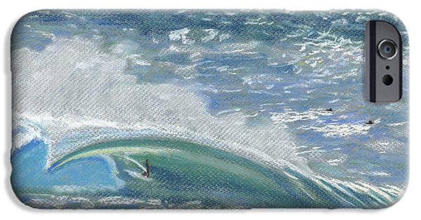 Sports Pastels iPhone Cases - Waverider iPhone Case by Patti Bruce - Printscapes