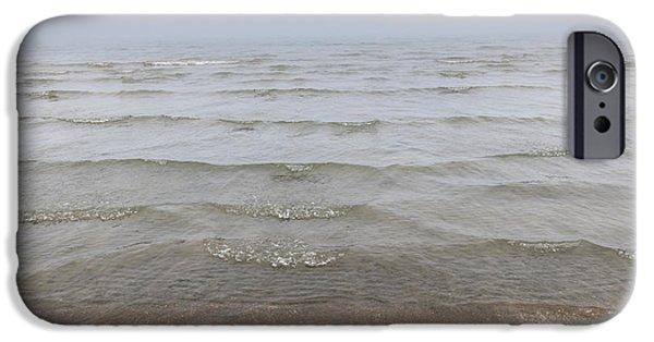 Foggy Ocean iPhone Cases - Waves in fog iPhone Case by Elena Elisseeva