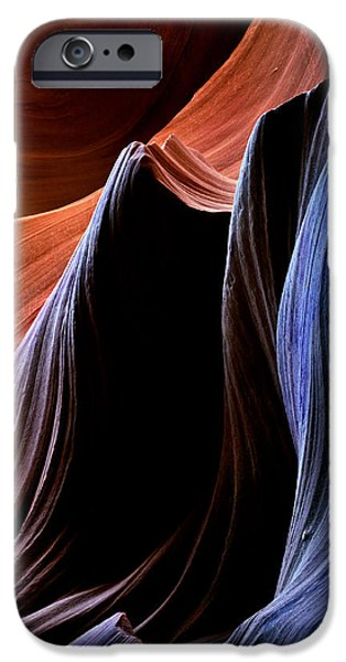 Red Rock iPhone Cases - Waves iPhone Case by Mike  Dawson