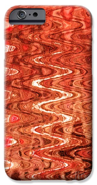 Abstract Digital Tapestries - Textiles iPhone Cases - Waves Saffron iPhone Case by FabricWorks Studio