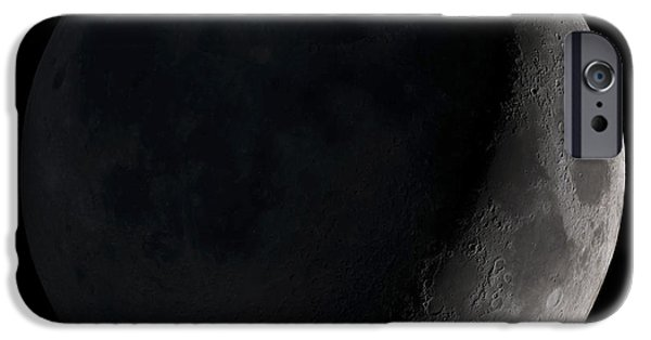 Shadow iPhone Cases - Waxing Crescent Moon iPhone Case by Stocktrek Images