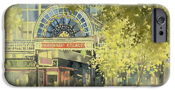 Facade iPhone Cases - Wayfarers Arcade iPhone Case by Peter Miller