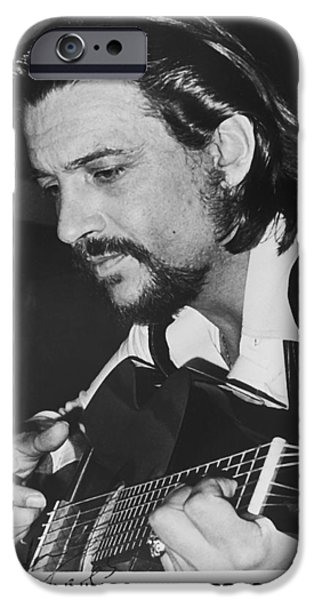 Autographed iPhone Cases - Waylon Jennings 1971 Signed iPhone Case by Rca
