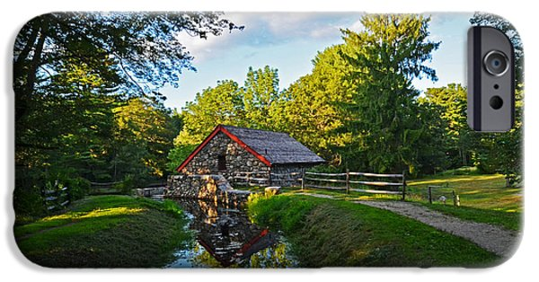 Grist Mill iPhone Cases - Wayside Inn Grist Mill Reflection iPhone Case by Toby McGuire