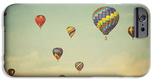 Best Sellers -  - Hot Air Balloon iPhone Cases - We Are Floating in Space iPhone Case by Irene Suchocki