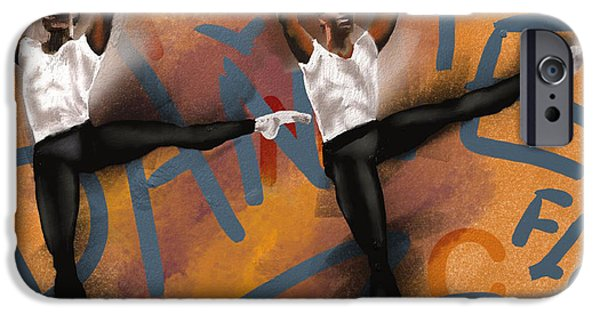 Ballet Dancers iPhone Cases - We Dance 2 iPhone Case by Terri Meredith