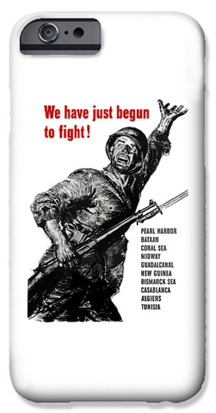 War iPhone Cases - We Have Just Begun To Fight -- WW2 iPhone Case by War Is Hell Store