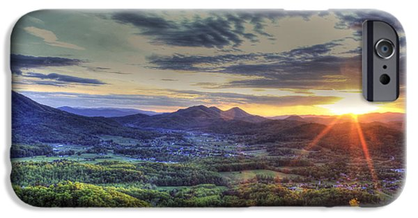Tennessee Historic Site iPhone Cases - Wears Valley Tennessee Sunset iPhone Case by Reid Callaway