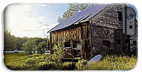 Old Barns iPhone Cases - Weathered Barn iPhone Case by Catherine Melvin