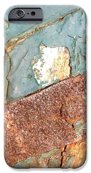 Rust iPhone Cases - Weathered Layers iPhone Case by Colette Larson