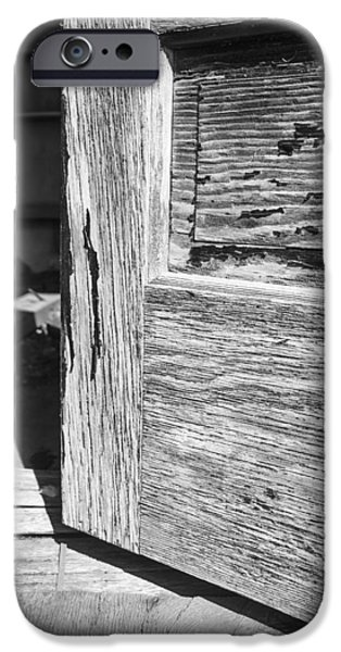 Historic Site iPhone Cases - Weathered Open Door iPhone Case by Donald  Erickson